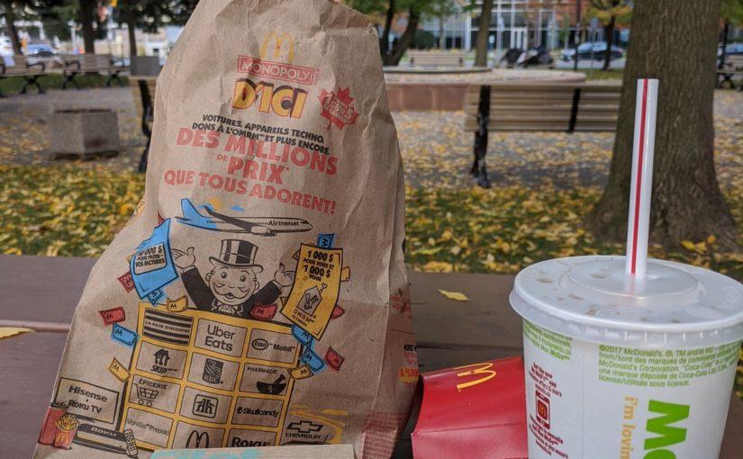 加拿大麦当劳当前特价促销